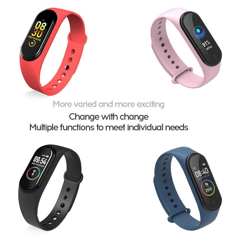 M4 Banda Intelligente Pedometro Wristband Del Braccialetto di Sport di Fitness Tracker Intelligente Della Vigilanza di Frequenza Cardiaca Monitor di Pressione Sanguigna di Smartband