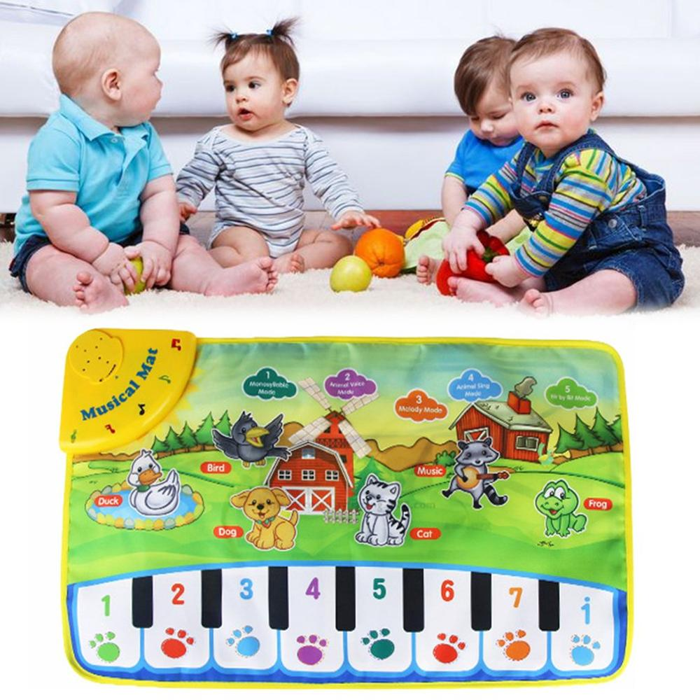 Kids Informative Educational Musical Toys Innovative Musical Kid Piano Play Mat with Lovely Animal Pattern