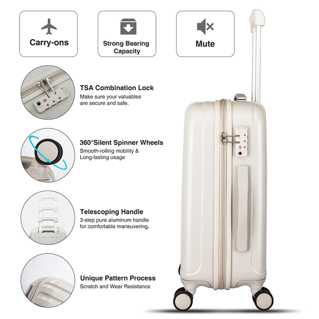 Best Spinner Luggage Suitcase PC Trolley Case Travel Bag Rolling Wheel Carry-On Boarding Men Women Luggage Trip Journey H80002 4