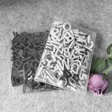 Letras magnéticas para manualidades, pegatinas de pared del alfabeto para refrigerador, adhesivo magnético de espuma para refrigerador, letras blancas y negras, 180 Uds.