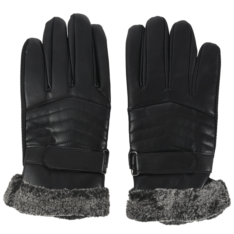 Man Anti-Slip Gloves Motorbike Leather Winter Sports Thermal Gloves Touch Screen Gloves