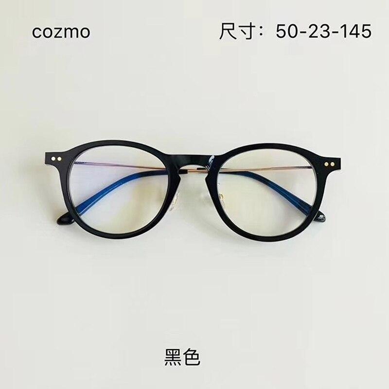 Корейские брендовые дизайнерские очки Cozmo, женские и мужские круглые очки для чтения с линзами по рецепту при близорукости, 2020
