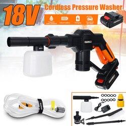 18V Tragbare Cordless Auto Washer Maschine 12V Hochdruck Elektrische Wasser Pistolen Düse Schlauch Pumpe Schaum Lance Batterie rechargable