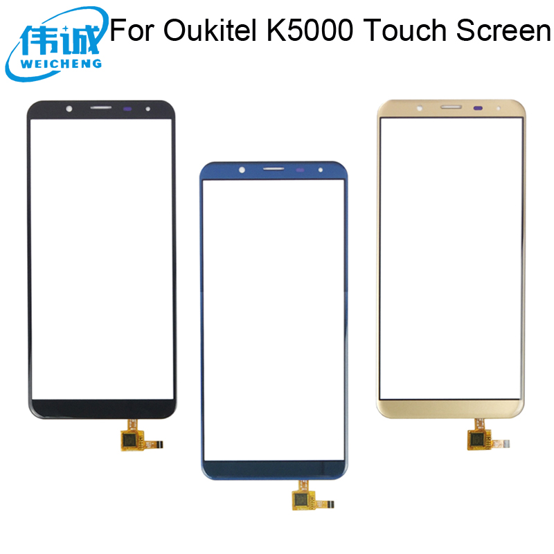 WEICHENG Top quality for <font><b>Oukitel</b></font> <font><b>K5000</b></font> <font><b>Touch</b></font> <font><b>Screen</b></font> 100% tested Glass Panel <font><b>Touch</b></font> <font><b>Screen</b></font> Digitizer +Free Tools image
