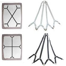 Suspensórios ajustáveis de lençol, clipes de prendedor de cama kit pinça cabido 1 conjunto
