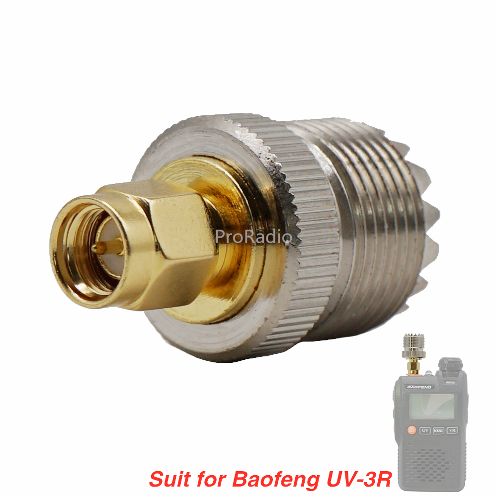 Genuine Copper Coaxial Adapter RF Connector PL259 Converter Coax Connectors SMA Female To UHF Female #YR02