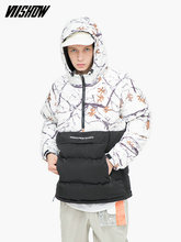 VIISHOW White Duck Mens Down Jacket Brand Winter For Men Doudoune Homme 2018 Printed Coat YC2222184