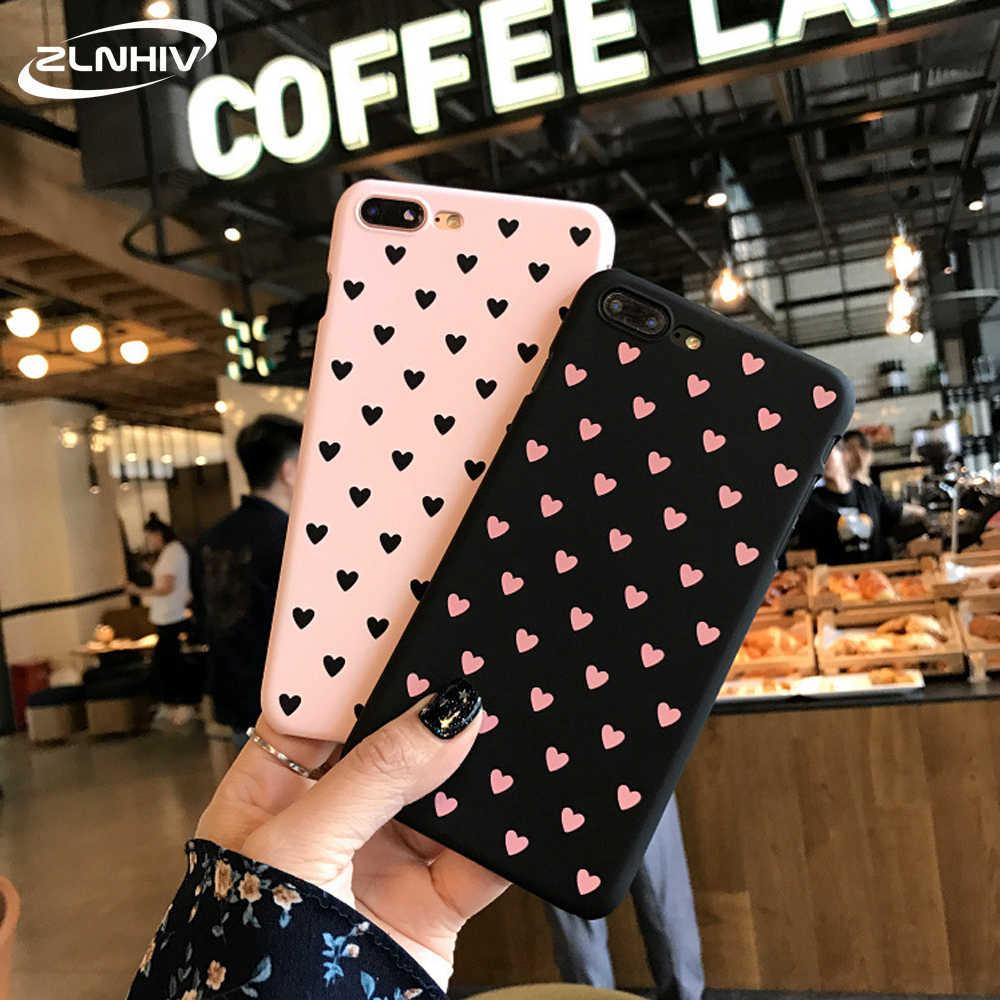 ZLNHIV amoureux coeur étui pour iphone 11 pro X XR XS MAX 6 6s 7 8 plus sac de téléphone mobile accessoires coque téléphone Antichoc