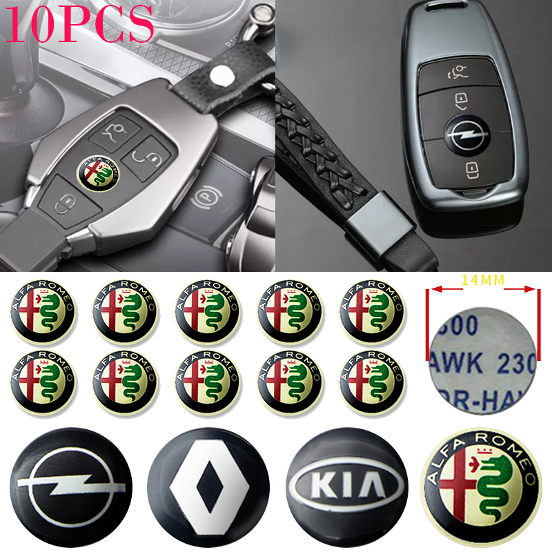 10pcs Car Key Sticker Auto Key Paster for KIA K2 K3 K4 K5 K6 K7 KX5 Rio 3 5 Bongo K2500 Xceed 2020 Sorento Sportage R Soul Decal