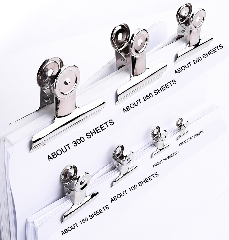 1p Powerful Metal Clip Stationery Office Supplies Household Folder Fixing Small Book Clip Extra Large Sketch Board Drawing Clip