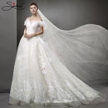 SERMENT Vestido De Novia  Wedding Dress 2019 Long Sleeve Gown Elegant Plus Size