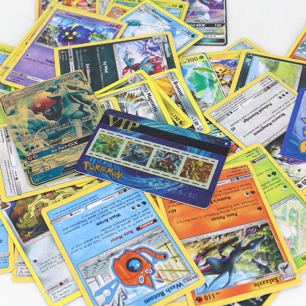 Takara Tomy 42pcs/set Shining Pokemon VIP Cards For Children Toy Collections Card Metal Boxed Flash Card