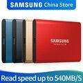 Samsung T5 SSD portátil 250GB 500GB 1TB 2TB USB3.1 unidades de estado sólido externo USB 3,1 Gen2 y compatible con atrás para PC
