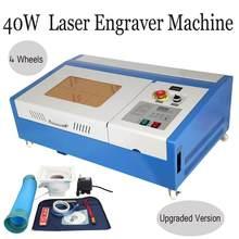 40w co2 usb gravação a laser máquina de corte k40 gravador cortador 220v/110v cnc com display digital para acrílico madeira compensada