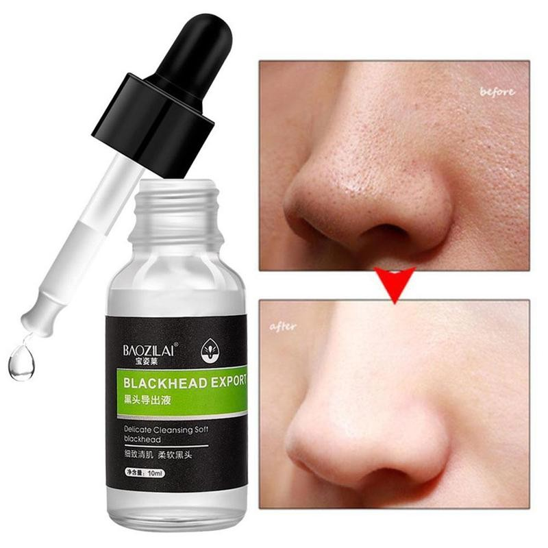 Beautiful 10ml Shrink Pores Serum Liquid Face Blackhead Remover Hyaluronic Acid Essence Anti-wrinkle Moisturizing Deep Cleansing Skin Care