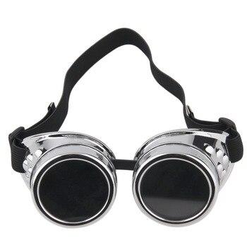 Cyber Goggles Steampunk Brille Vintage Retro Schweißen Punk Gothic Sonnenbrille Stilvolle Retro Steampunk Cyber Goggles Gläser A40