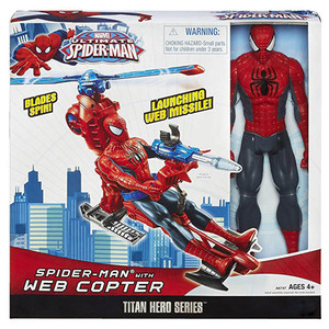 Image 3 - Marvel Legends 30cm Spiderman Toys Set Titan Hero Series Copter Action Figure 11.8 Inches New Year Gifts Toys for Boys