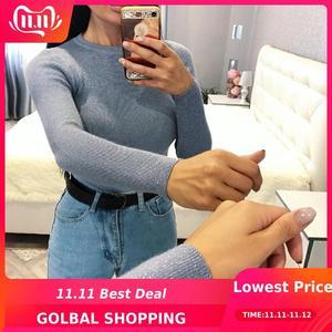 Womens Sweaters 2018 Winter Shiny Lurex