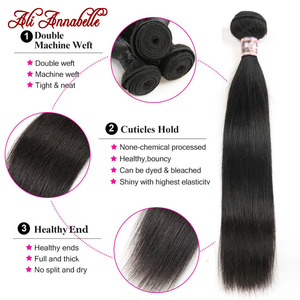 Image 5 - Feixes de cabelo reto peruano 1/3/4 pçs em linha reta feixes de cabelo humano 10 36 polegada cabelo longo ali annabelle remy extensões de cabelo