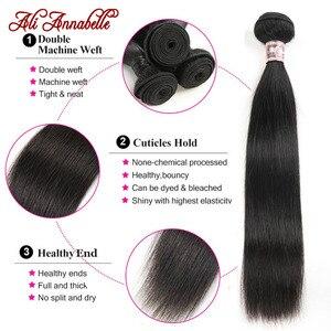Image 5 - Mechones de cabello lacio peruano extensiones de cabello humano mechones de cabello largo Remy de 10 36 pulgadas, 1/3/4 Uds. Ali Annabelle