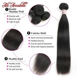 Image 5 - Peruvian Straight Hair Bundles 1/3/4 PCS Straight Human Hair Bundles 10 36inch Long Hair Ali Annabelle Remy Hair Extensians