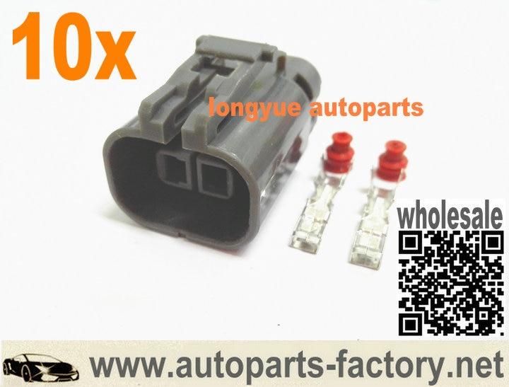 Longyue 10pcs Alternator Repair Plug Connector For Maxima Murano I30 I35 For  Nissan Knock / Alt 2p Connector