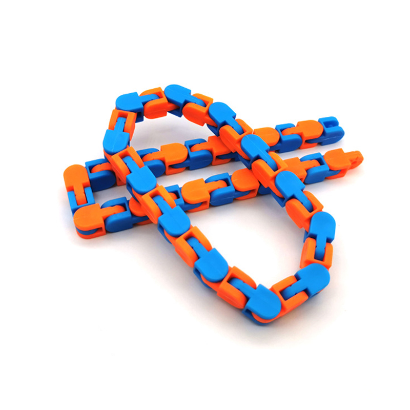 Toy Chain Bracelet Fidget Spinner Bike Anti-Stress Adult Children for Kids Snake Puzzle img4