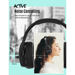 Image 3 - Mpow H19 IPO Wireless Headphones ANC Noise Canceling Headphone HiFi Stereo Bluetooth 5.0 Headset With 30H Playtime For Iphone 11