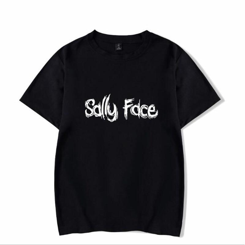 Sally Face T-shirt Horrible Game Women Men Short Sleeve T Shirt  Summer Casual Cotton Tops Hip Hop Streetwear Tee Shirts
