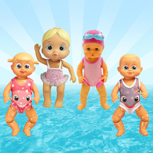 Swimming Doll 4 Seasons Electric Waterproof Backstroke Baby Bathing In Water Swimming Toy Bath Toys for Kids Shower Water Toys