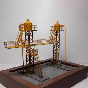 1:87 HO Scale Train Railway украшение сцены двигателя внутреннего сгорания модель масляной станции для песочного стола