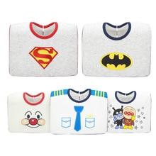 Водонепроницаемые Слюнявчики Baberos Bebe, милые детские нагрудники с рисунком Супермена, хлопковые Слюнявчики для малышей 0-3 лет
