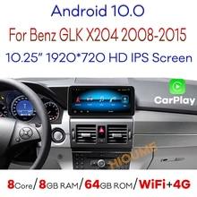 4G LTE Android 10,0 8 ядер 8 ГБ ОЗУ + 64 ГБ Автомобильный DVD Радио мультимедийный плеер GPS навигация для Mercedes Benz GLK Class X204 2008-2015