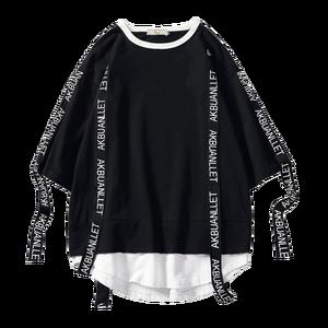 2020 Summer style Men T Shirt Hip Hop O Neck Short Sleeve Casual Ribbon Decoration Streetwear Top Tees Men(China)
