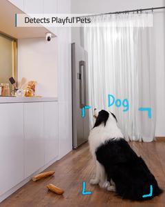 Eufy безопасности 2K крытая камера скорость панорамирования и наклона, подключаемого модуля комнатная камера безопасности с Wi-Fi, и домашних жи...