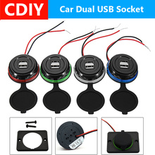 Car Charger Dual USB 3.1A 12/24V Power Adapter Waterproof Charger USB Socket Plug For Auto Motorcycle Bus universal universal 2000ma usb car charger adapter for digital devices white 12 24v