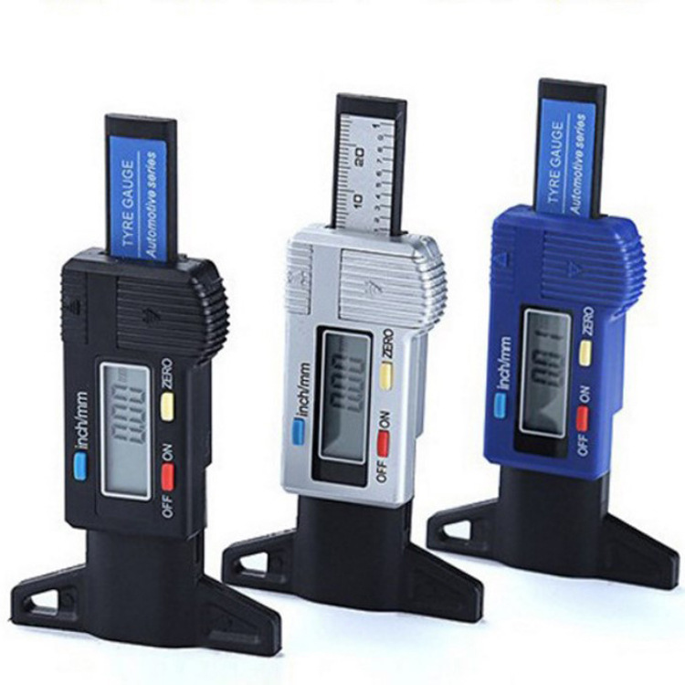 Digital Depth Gauge Caliper Tread Depth Gauge LCD Tyre Tread Gauge For Car Tire 0-25mm Measurer Tool Caliper