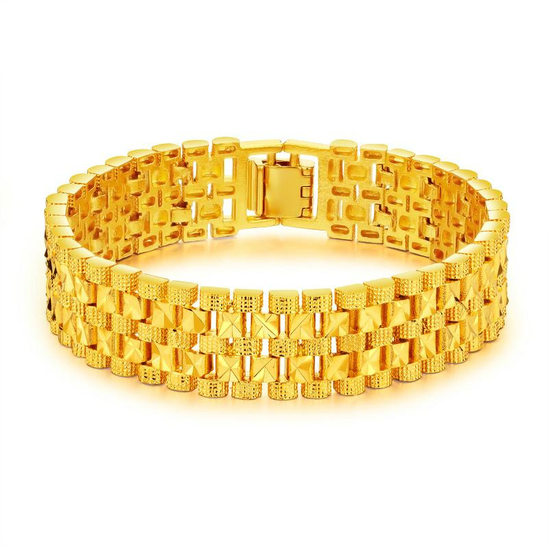 Luxury Gold Plating Color Bracelet Wristband Men Jewelry Bracelets Bangles Gift For Him High Quality Titanium Steel
