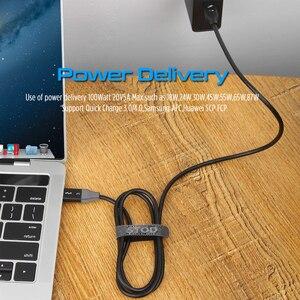 Image 4 - Thunderbolt 3 kabel 40 gb/s PD 5A 100W szybkie ładowanie USB C do C DisplayPort 4K 5K HD dla macbook Pro Air iMac USB C przewód ładowarki