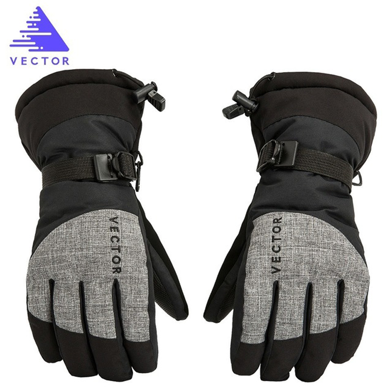 Векторные Экстра толстые ПУ пальмовые лыжные перчатки зимние спортивные женские мужские теплые снегоходы мотоциклетные ветрозащитные вод...