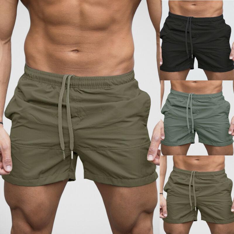 2020 Pockets Detail Quick Dry Swimming Shorts Men Swimwear Man Swimsuit Swim Beach Shorts Summer Bathing Beach Wear Surf Boxer