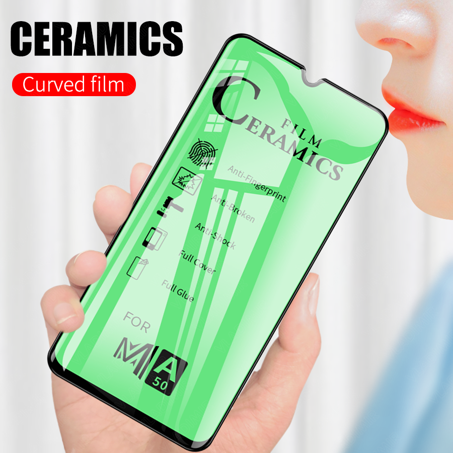 Soft Ceramic Film For Samsung Galaxy A50 A30 A40 A60 A70 A80 M10 M20 M30 Full Glue Cover Screen Protector(Not Tempered Glass)