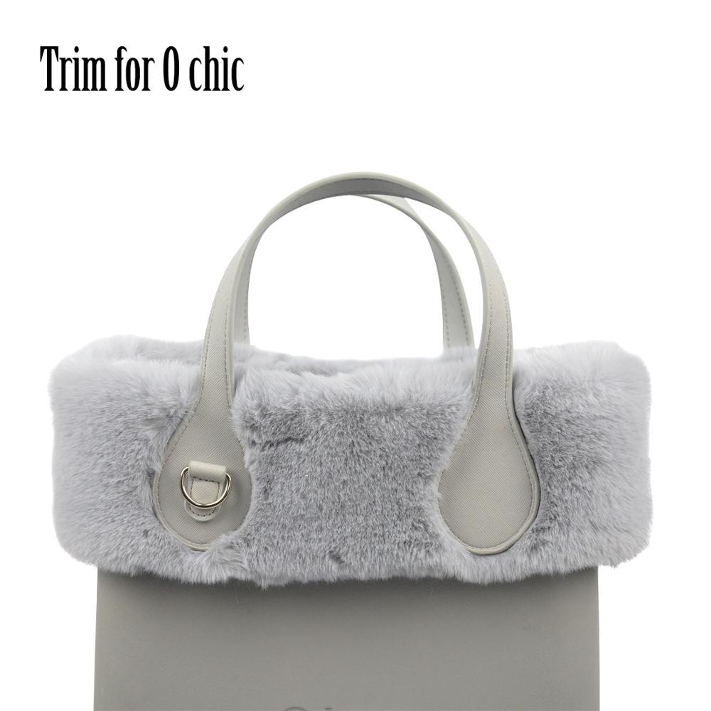 2020 New 8 Colors Women Bag Faux Rex Rabbit Fur Plush Trim For Chic O BAG Thermal Plush Decoration Fit For Ochic Obag