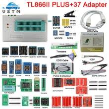 مبرمج عام 100% XGECU V10.8 TL866II Plus, + 37 محول + SOP8 IC Clip عالية السرعة TL866 Flash EPROM مبرمج