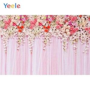 Image 4 - Yeele düğün töreni 3D çiçekler dekor ağacı mor fotoğraf arka planında kişiselleştirilmiş fotoğraf fotoğraf stüdyosu için arka planlar