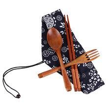 1 pares pauzinho + 1 colheres artesanal japonês pauzinhos de madeira natural colher conjunto com presente bolso pauzinho de bambu palillos comer