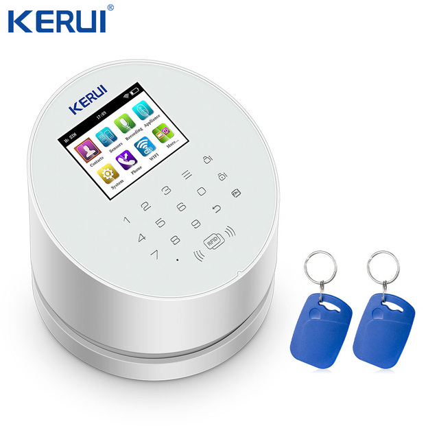 KERUI W2 WiFi GSM PSTN Home Alarm  RFID Security Panel TFT color LCD Display ISO Android App Control