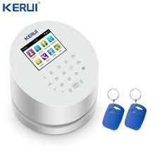 KERUI W2 WiFi GSM PSTN إنذار المنزل لوحة الأمن تتفاعل TFT لون شاشة الكريستال السائل ISO أندرويد App التحكم