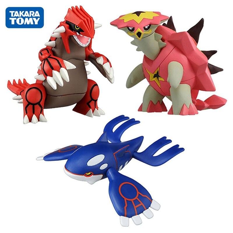 Takara Tomy Pokemon Groudon Kyogre Turtonator Action Figure Model Cartoon Anime Gifts Toys For Children