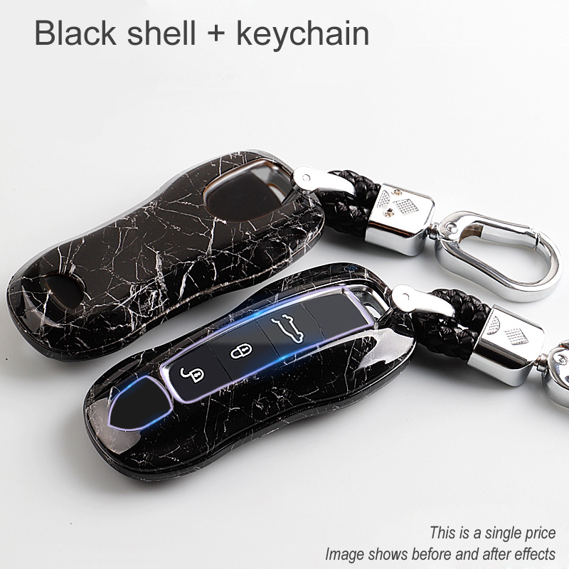 Car key case cover for porsche panamera macan <font><b>boxster</b></font> cayenne 971 911 <font><b>718</b></font> 9YA remote smart key holder Shell cap fob protection image
